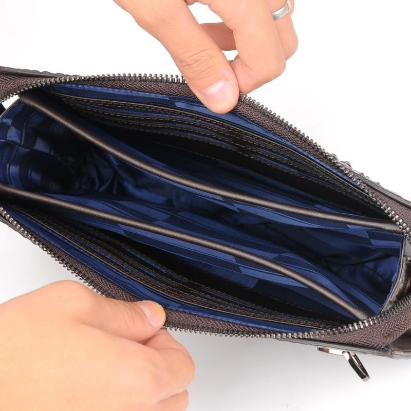 Купить с кэшбэком mens wallet leather genuine Alligator man's clutch bag designer Business male phone wallet cowhide carteras hombre billeteras