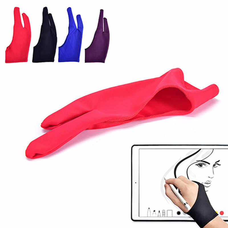 Drawing Glove For Any Graphics Drawing Tablet Gloves 2 Finger Anti-fouling Painting Glove Right And Left Hand universal Mitten