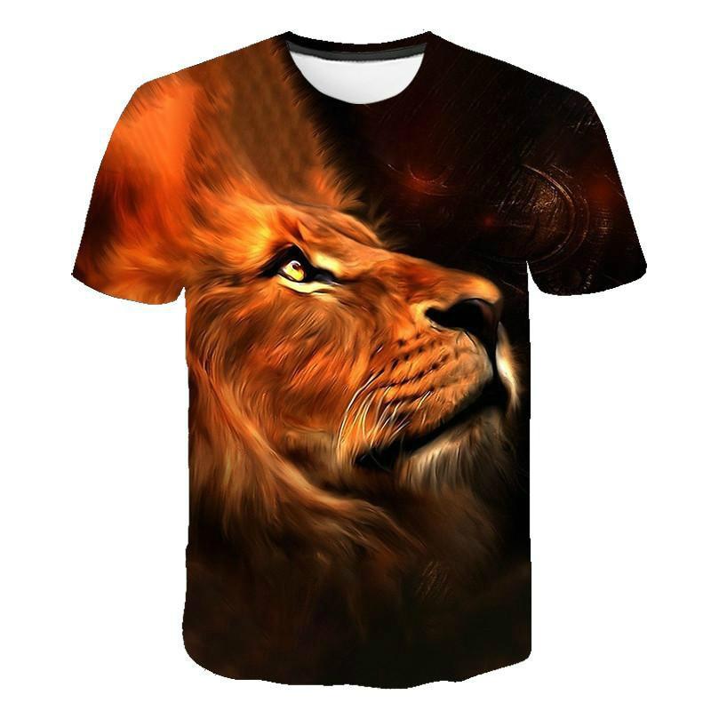 Camiseta de manga corta para hombre, camiseta de verano con estampado 3D, hip-hop, informal, cuello redondo, moda, estilo simple