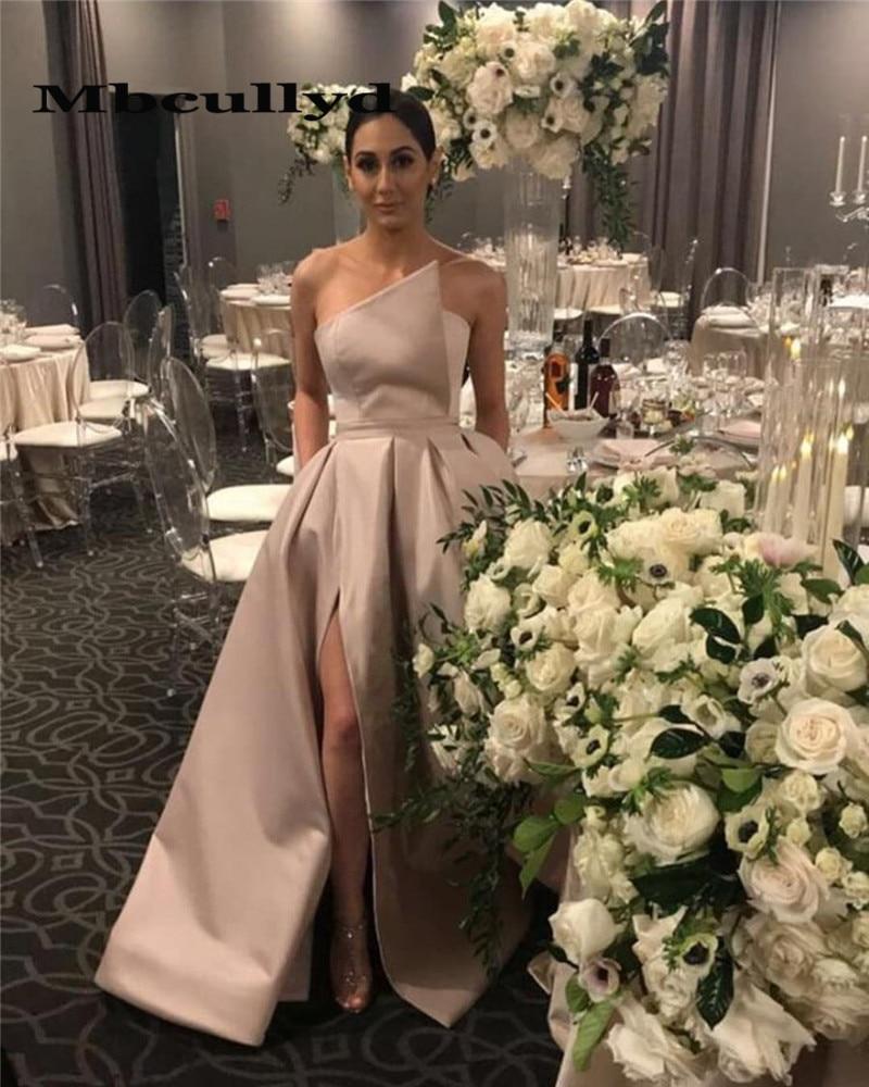Mbcullyd Champange Satin Bridesmaid Dresses For Women 2020 Black Girls Long Wedding Guest Dress Party Formal Vestido Madrinha