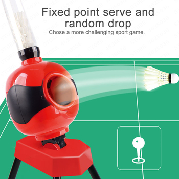 Adult Kid Automatic Badminton Service Machine Robot Gift Portable Outdoor Indoor Beginner Ball Pitching Practice Trainer Device 1