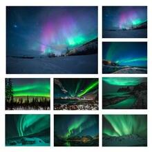 Aurora Borealis Volle Druck Neue Modus Aurora Polaris Leinwand Kunst Polar Licht Poster Nordic Moderne Dekoration