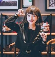 Brand LEHNO Japanese JK School Uniform Skirt Female Student Uniform School Sailor Uniform