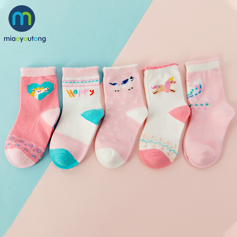 5 Pair Jacquard Cat Unicorn Rabbit Comfort Warm Cotton High Quality Kids Girl Baby Socks Child Boy Newborn Socks Miaoyoutong 4