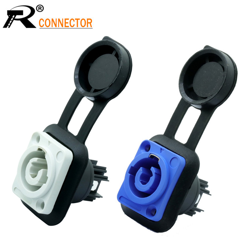 1pc Waterproof 3 PIN Powercon Female Panel Mount OUT/IN 20A/250V AC Power Jack Socket Chassis Connector For LED Large Screen