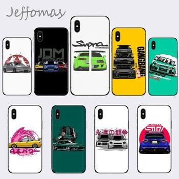Fashion Drift Cars Auto JDM Soft Phone Case Capa For iphone 5 5S SE 5C 6 6S 7 8 plus X XS XR 11 PRO MAX image