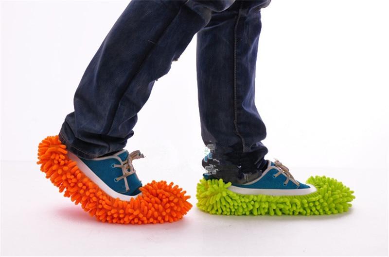Mopa de microfibra para limpieza de suelo, pantuflas peludas perezosas para el hogar, herramientas de suelo, zapatos, Limpiador de cocina de baño, 1 unidad