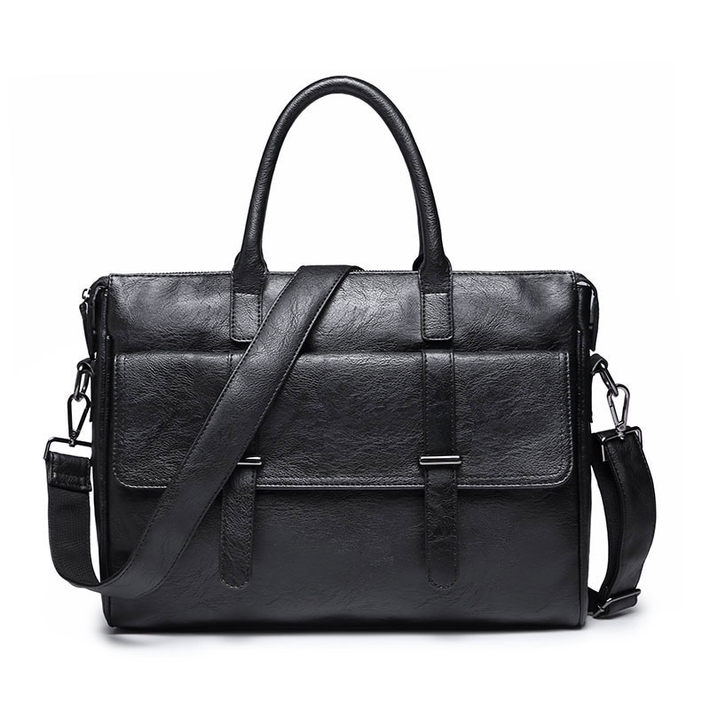 Business PU Leather Briefcase Men Casual Office Work Laptop Handbag Male Fashion Travel Notebook Messenger Shoulder Bags H064