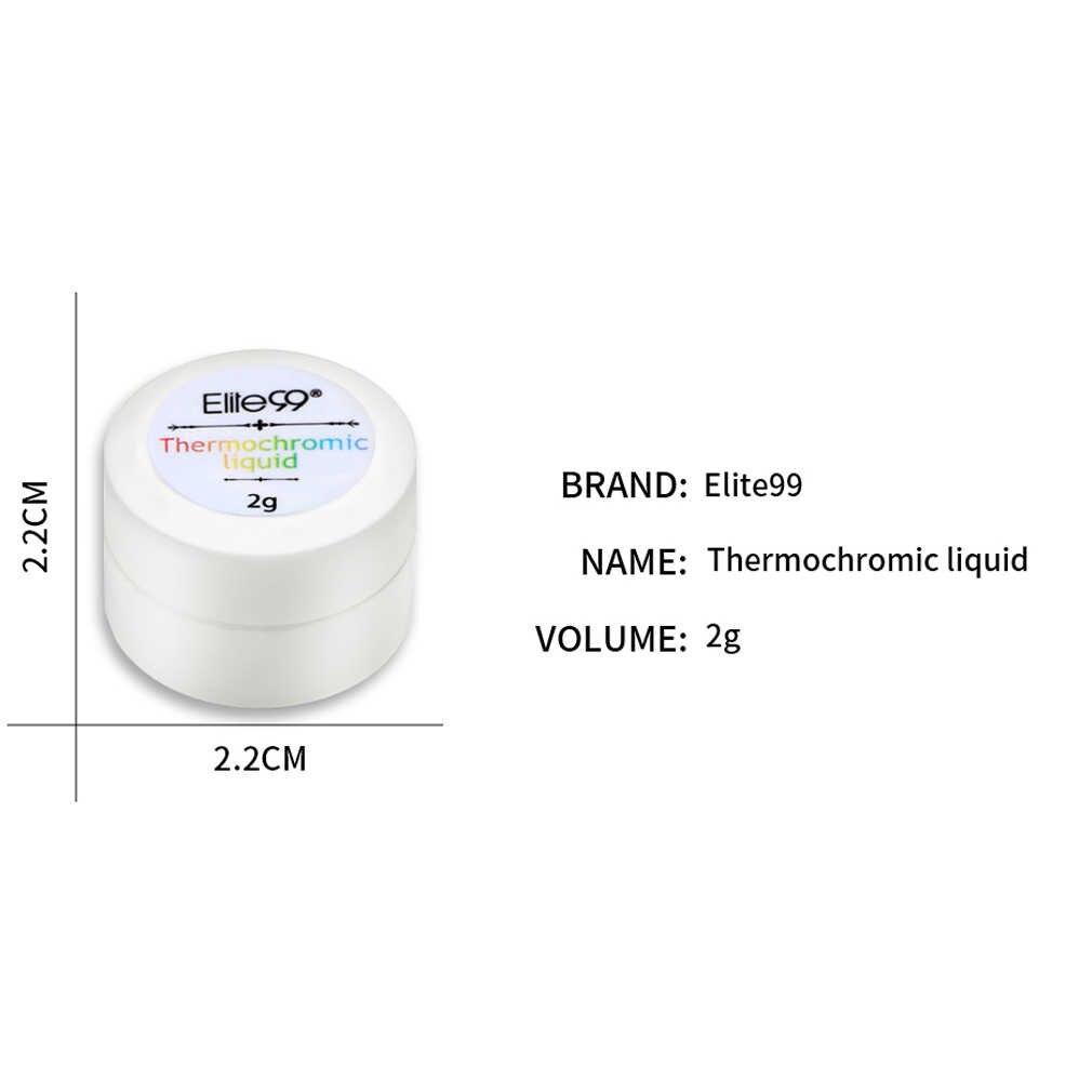 Elite99 termokromik sıvı 2g jel lehçe sıcaklık renk değişimi jel oje kapalı ıslatın cila siyah taban gerekli lehçe