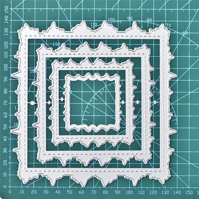 Nuevo diseño Artesanía Troqueles cortar metal Rectángulo Hierba Fondo Scrapboo