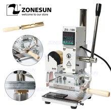 Zonesun zs 100 новая ручная машина для тиснения кожи бумаги