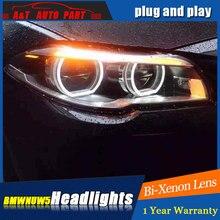Farlar BMW 5 serisi 2011 2017 için LED/Xenon düşük işın yüksek ışın LED gündüz çalışan işık sıralı dönüş sinyali 1 çift