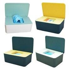 Tissue Box Storage Case Baby Wet Wipe Dispenser Flip Cover Dustproof Storage Box Napkin Organizer