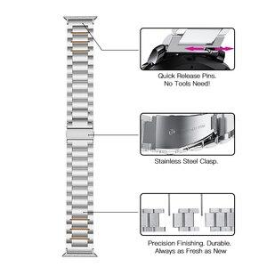 Image 4 - HOCO 22mm רוחב נירוסטה להקת עבור Samsung ציוד ספורט S3 Galaxy שעון רצועת מתכת צמיד, שחור וכסף צבע