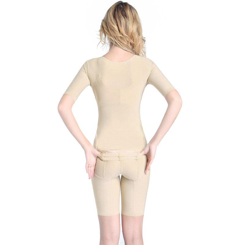 Бесшовные открытые ягодицы для женщин талия контроль тренера боди всего тела формирователь для похудения нижнее белье с коротким рукавом Т... - 5
