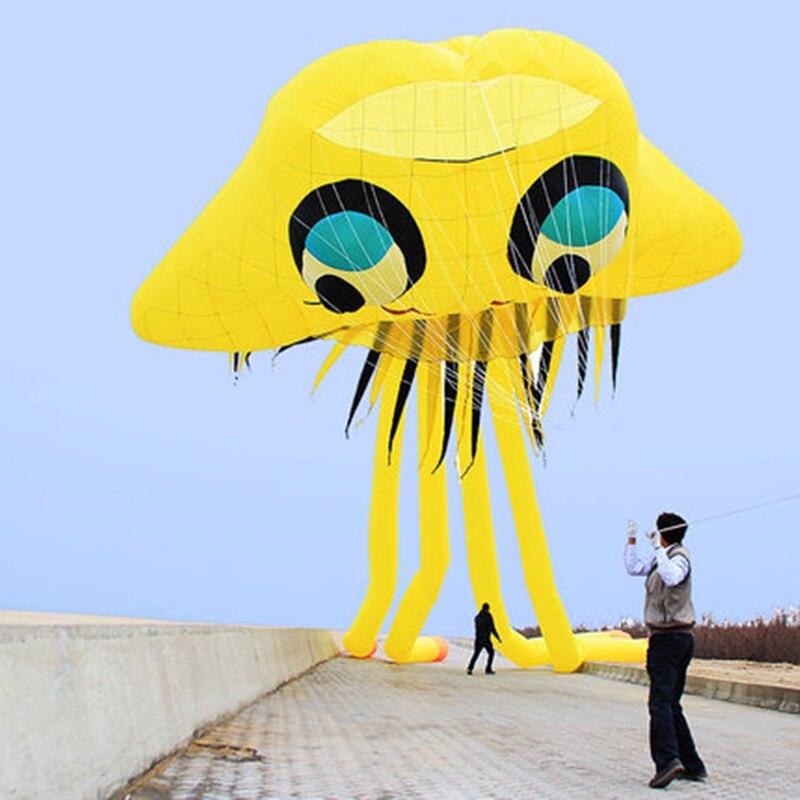 5m méduse cerf-volant 3D pieuvre doux cerf-volant marin Animal cerf-volant enfants cadeau Sports de plein air amusant outil de vol livraison gratuite