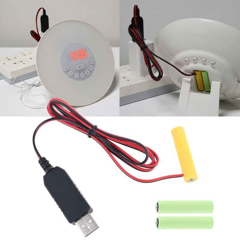 LR03 AAA Battery Eliminator USB Power Supply Cable Replace 1 to 4pcs AAA Battery