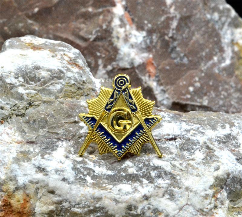 Masonic Lapel Pins Badge Mason Freemason   Blue Compass And Square G