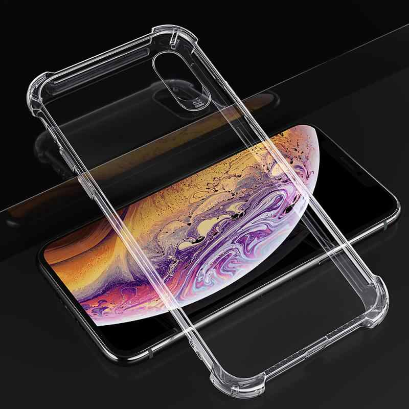 Essager Telefoon Case Voor Iphone Shockproof Phone Case Voor Iphone Xs Max Xr X 8/7/6/6 S/s/Plus/5/5S/Se Lot Transparant Siliconen Soft