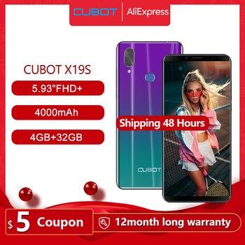 "Cubot X19 S Smartphone Helio P23 Octa-Core Dual Camera 16MP 5.93"" 2160*1080 FHD+ Face ID 4000mAh Big Battery 4GB+32GB 4G LTE 1"