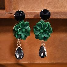Korean Fashion Charm Flower Earrings for Girls Women Elegant Party Statement Brincos Bijoux Gift Drop Earrings Jewelry Earrings