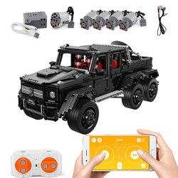 Nowa skala 1:8 Banz AMG G63 6X6 kompatybilny Technic MOC-31044 klocki klocki edukacyjne zabawki urodziny Gfits dla chłopca