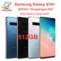 Samsung Galaxy S10 + S10 плюс G975U G975U1 512 ГБ ОЗУ 8 Гб ПЗУ Octa Core 6,4