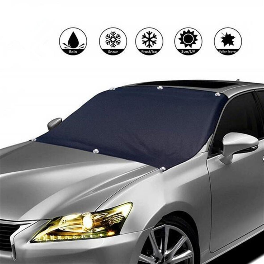 Universal Car Cover Auto Windshield Ice Snow Guard Magnetic Windscreen Sunshade Protector Sun Shade Protection Cover All Weather