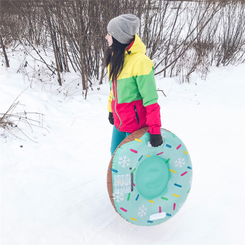 Durable Winter Tires Snowboard Skis Inflatable Snow Sled Handles Designed For Children And Adults