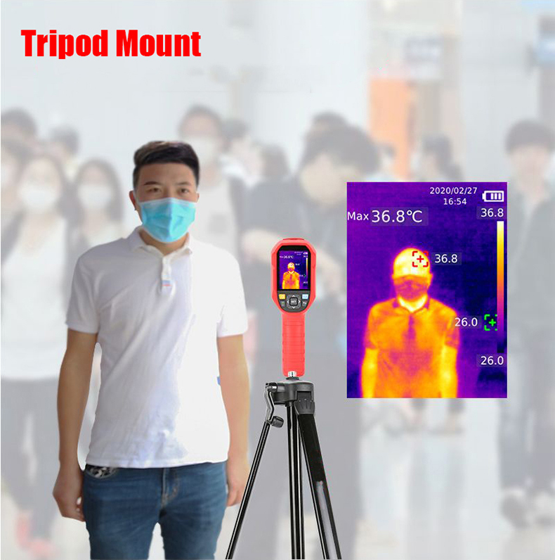 Digital Thermal Camera With A USB Cable Connected To Display For Temperature Measuring 9