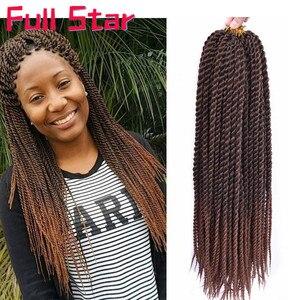 Полная звезда Сенегальский крючком Твист косички волосы 14