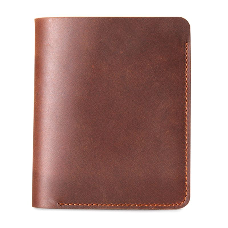 Retro Leather Men Purse Horizontal Vertical Male Wallet ID Credit Card Holder