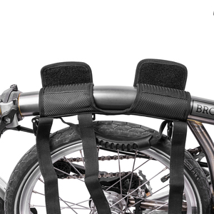 Image 5 - ROCKBROS 접는 자전거 자전거 프레임 캐리 숄더 스트랩 자전거 자전거 캐리어 손잡이 Brompton 자전거 액세서리