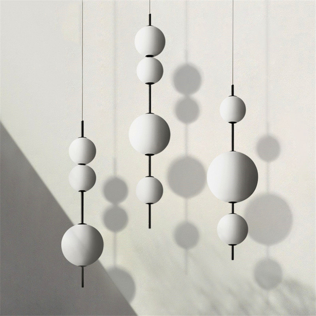 מודרני LED תליון מנורות תליית מנורות מסעדה דלעת תליון אורות בית קפה בר חדר שינה מטבח חדר אוכל זכוכית דקו גופי
