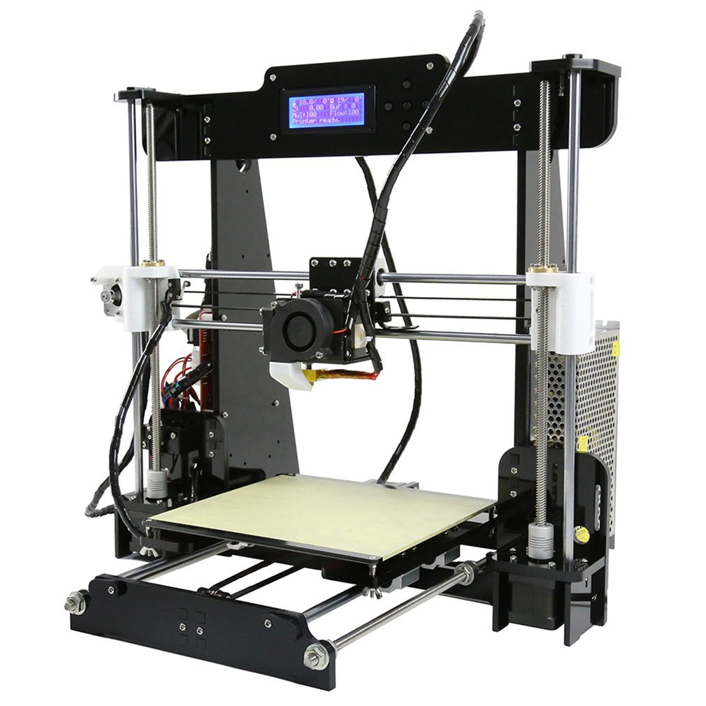 Convenient DIY 3D Printer Printing Machine Acrylic Frame Mechanical Kit Print 3 Materials LCD Filament Aluminum Structure