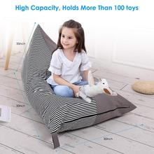 King size toy storage bag bean bag chair storage supplies seat foldable floor chair sofa free shipping baby bean bag with 2pcs gray up covers lazy sofa baby bean bag chair children bean bag chair bean bag seat cover
