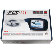 FLT Car-Alarm-System Remote-Control Twage Engine Start LCD Two-Way for A91 Key-Case Russian-Version-Accessories