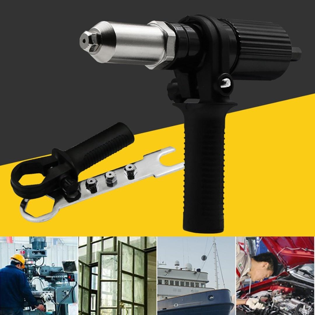Electric Rivet Nut Gun Riveting Tool Cordless Alloy Steel Riveting Drill Adaptor Insert Nut Tool