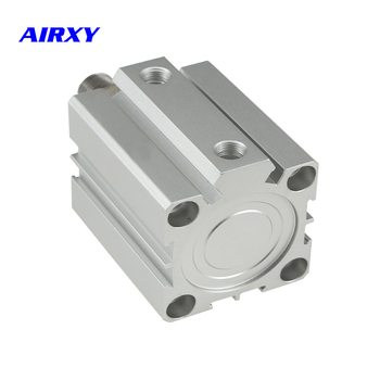SDA 32mm compact double cylinder pneumatic air 5-100mm stroke SDA32 pneumatic double acting piston cylinder SDA32-50 цена 2017