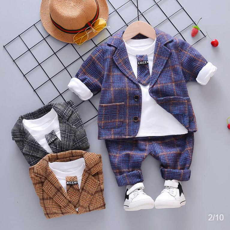 Baby Boy Fashion Clothing Set Kid Tie Suits High Quality Autumn Spring Children Tracksuit Clothes kids  sport clothes sets 3