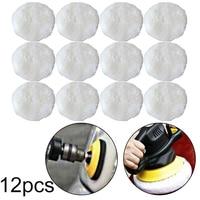 12pcs Set Polishing Cleaning Buffer Pads Imitation Wool For Car Polisher Buffing|Parlatma Pedleri|Aletler -