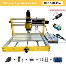 CNC 3018 Plus Laser Engraver New Upgrade Metal Frame 3 Axis DIY Desktop Laser Engraving Milling Machine 15W 30W CNC Wood Routers