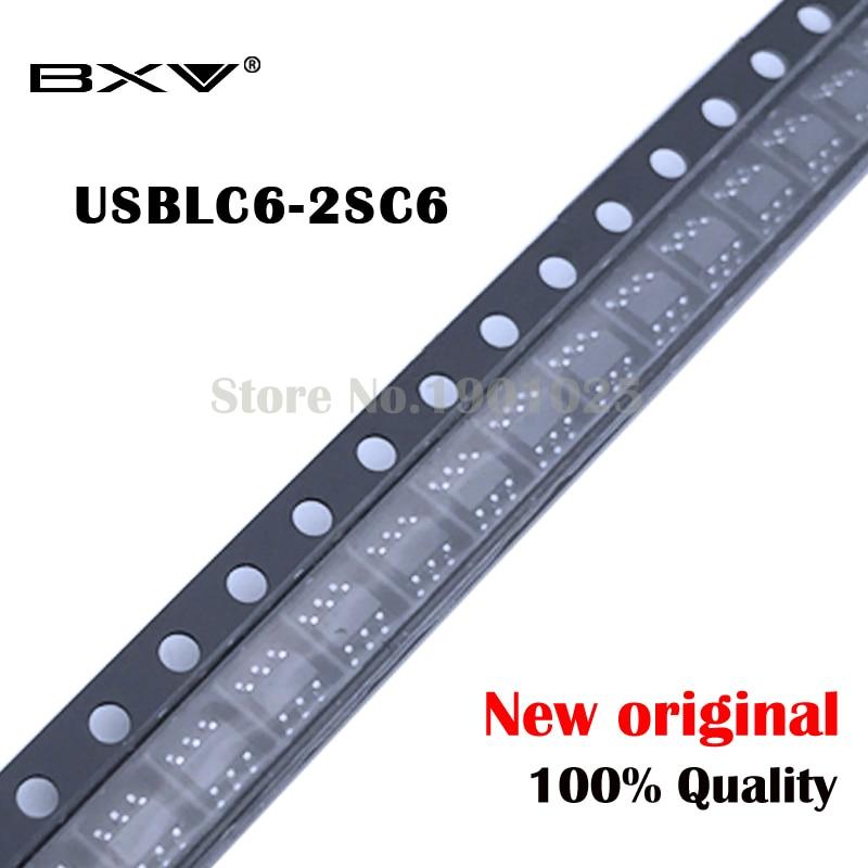 10PCS USBLC6-2SC6 USBLC6 SOT23 SOT23-6 SOT UL26 Transistor New Original