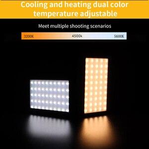 Image 3 - الترا برايت ديامابل RGB LED الفيديو الضوئي ملء ضوء 3200 K 5600 K DSLR التصوير الإضاءة مع ترايبود صغير الهاتف جبل عدة