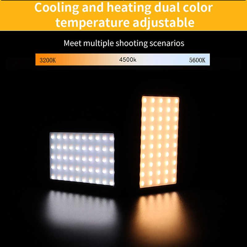 Value-5-Star 216 LED Video Camera Fill Light 3200K 5600K Dual Color Temperature Pography Po Light 2200Lux 3//8 Mount For DSLR Cameras