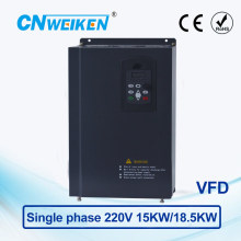 Vector Control frequency converter 15kw/18.5kw Single-phase 220V to Three-phase 220V VFD inverter Engine Frequency Controller ce 2 2kw 220v single phase to three phase ac inverter 400hz vfd variable frequency drive