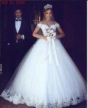 2020 New White Lace Wedding Dress Off Shoulder Bride Wedding Dresses Plus Size Bridal Wedding Gowns Ball Gown Vestido de noiva стоимость