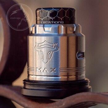 THC Tauren Max RDA ThunderHead – atomiseur en acier inoxydable, Original, 2ml, 25mm, Vape solo reconstructible