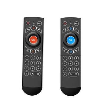 Bezprzewodowa Air Fly Mouse uczenia IR 2 4GHz inteligentne sterowanie głosem kontroler z żyroskop podświetlenie kompatybilny z Windows tanie i dobre opinie REXLIS Odtwarzacze audio wideo NONE CN (pochodzenie) Wireless Air Fly Mouse 2400 0MHz - 2483 5MHz 2pcs AAA Battery (NOT INCLUDED)