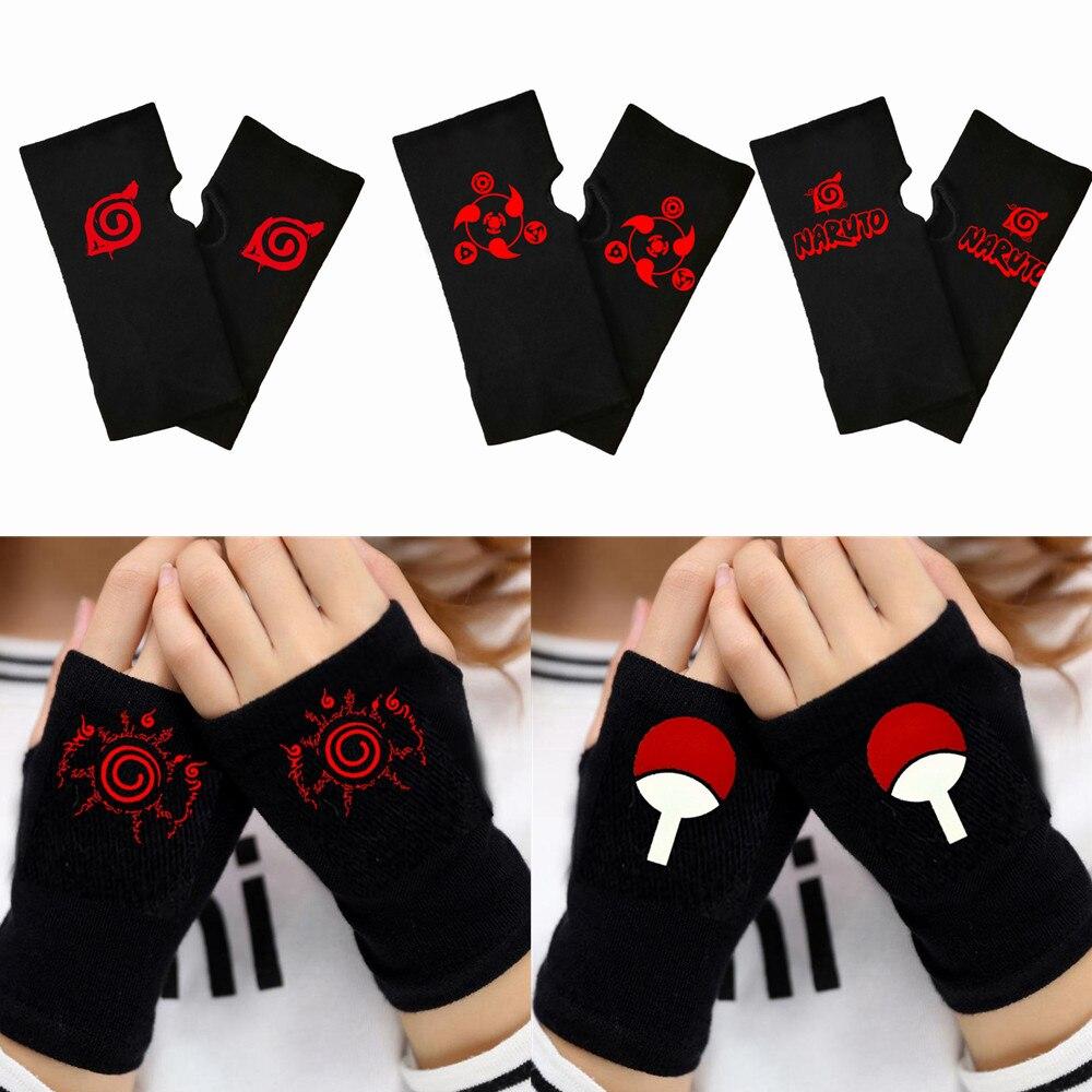 Anime Naruto Sharingan Gloves Akatsuki Uchiha Itachi Kakashi Cosplay Prop